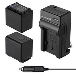 Powerextra 2 Pack Replacement Batteries and Charger for Pana