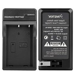 Insten Replacement Compact Battery Charger Set Compatible wi