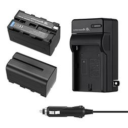 Powerextra 2 Pack Replacement Sony NP-F750 Battery and Charg
