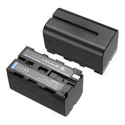 Powerextra 2 Pack Replacement Sony NP-F750 Battery for Sony