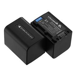 Powerextra 2 Pack Replacement Sony NP-FV70 battery for Sony