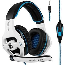 Sades SA810 Over-Ear Stereo Bass Gaming Headset with Noise I