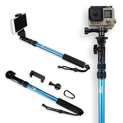 Selfie Stick | Use as GoPro Pole and Monopod Kit | Lightweig