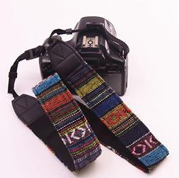 FODSLR Camera Shoulder Neck Strap Vintage Soft Multi-Color U
