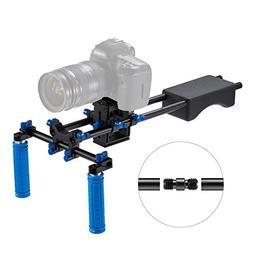 FOTOWELT Universal Camera Video Rig Dual Grip Portable Filmm