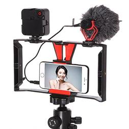 FocusFoto Smartphone Video Rig Camera Cage Mount Holder Stab