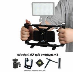 Smartphone Video Rig Kit Handheld Grip Stabilizer iPhone X 8