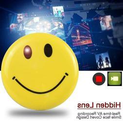 Smile Face Badge DV HD Spy Camera DVR Hidden Video Recorder