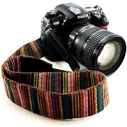 Wannabuy Camera Soft Bohemia Shoulder Neck Universal Camcord