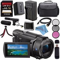 Sony FDR-AX53 FDRAX53 4K Ultra HD Handycam Camcorder + Recha