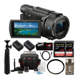 Sony FDR-AX53 UHD 4K Handycam Camcorder with 55mm Filter and