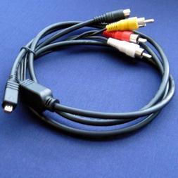 Sony Handycam DCR-SR68/E & DCR-SR68 Compatible AV A/V TV-Out