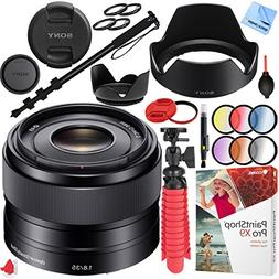 Sony SEL35F18 35mm f/1.8 Prime Fixed E-Mount Lens with 49mm