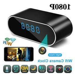 Upgraded HD 1080P Surveillance Wifi Motion Camera Alarm Cloc