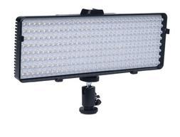 Polaroid 320 LED Video Light –w/ Stepless Variable Color T