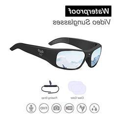 OHO sunshine Waterproof Video Sunglasses, 1080P HD Outdoor S