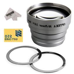 Opteka 3x Telephoto Converter Magnetic Magnet Lens for Flip