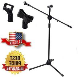 Telescoping Microphone Boom Stand Tripod Stage Studio Arm Ho