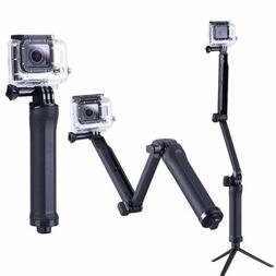 Three 3 way Selfie Handheld Stick Monopod Folding Holder for