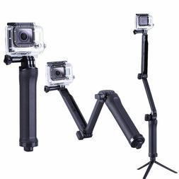 Three 3 Way Selfie Handheld Stick Monopod Folding Holder for