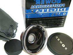 Bower Titanium FISHEYE Fish-Eye LENS X .38 FOR SONY 30 & 37m