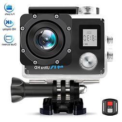"AIMTOM TL-9 Action Camera, 16MP 4K FHD Video Camera 2"" Scree"