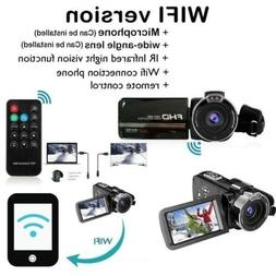 """Touch Screen WIFI 3"""" LCD 24MP Full HD 1080p Camcorder Video"""
