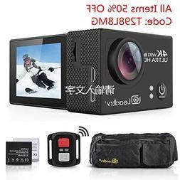 LeadTry TP2 HD Action Camera Full 4K Wi-Fi Sports Camera, Ul