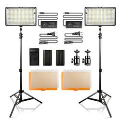 Travor 2 PACK TL-240 Dimmable LED Video Light for Camcorders