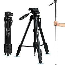 BAALAND Camera Tripod, 70 inch Folding Lightweight Aluminum