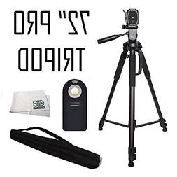 SSE Professional Tripod 3 Way Pan Head Tilt Motion with Buil