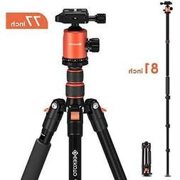 Geekoto Tripod, Camera Tripod for DSLR, Compact 77'' Alu
