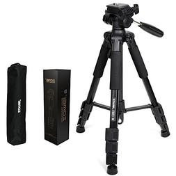 Tripod 55-Inch ZOMEI Lightweight, Professional Camera Tripod