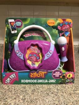 Trolls Sing Along Boombox, Real Working Microphone, Brand Ne