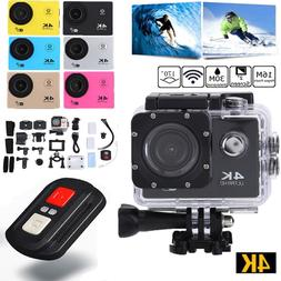 Ultra 4K WiFi 1080P Ultra HD Sport Action Camera DVR Helmet