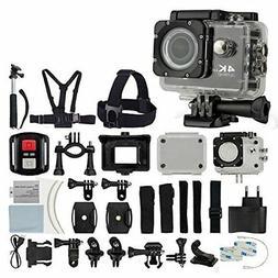 4K Ultra HD DV 12MP 1080p 60fps Action Camera Black + Top Va
