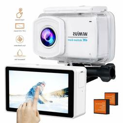 "Underwater Action Camera 4K 2.45"" LCD Touch Screen 16MP 1080"