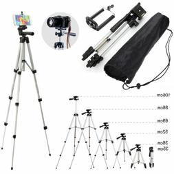 Universal Aluminum Camera Camcorder Tripod Stand w/ PHONE Ho