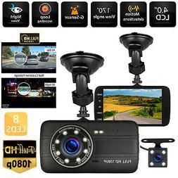 "4"" Vehicle 1080P HD Car Dashboard DVR Camera Video Recorder"