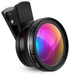 AMIR Phone Camera Lens, 0.45X Super Wide Angle Lens + 12.5X