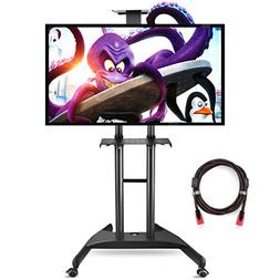 Suptek Universal Mobile TV Cart TV Stand with Mount for Flat