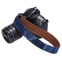 Universal Camera Strap Tie Dye Jeans Soft Safety Tether Mult