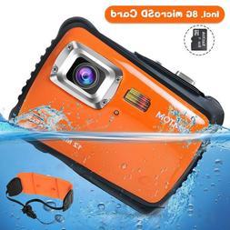 Kids Underwater Digital Camera 12MP Water Sports Camcorder