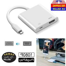 US For Apple Iphone 6 7 8 + X Ipad Lightning to HDMI Digital
