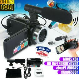 US Full 1080P 24MP 18X Zoom 3'' LCD Digital Camcorder Video