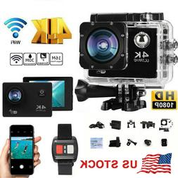 US Wifi 1080P 4K Ultra Full HD Sport Action Camera DVR DV Wa