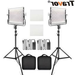 USA Travor 2pcs/Kit Photography LED Video Light Camera Studi