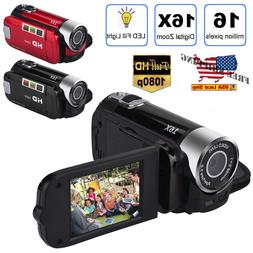 USA HD 1080P 2.7'' LCD Camcorder 16MP 16X Zoom Digital Video