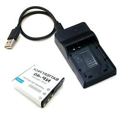 USB Charger + Li-ion Battery Pack for Bell and Howell DV1200