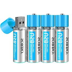 USB Rechargeable <font><b>AA</b></font> Lithium <font><b>Bat